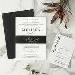 Black and Chic Letterpress - Wedding Invitations - WP-IC55-LP-04 - 179041