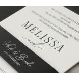 Black and Chic Letterpress - Wedding Invitations - WP-IC55-LP-04 - 179042