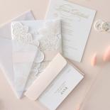 Gold Foil Stamped Floral Laser Cut Elegance - Wedding Invitations - BH1680-F - 178753