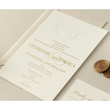 Letterpressed Monogram with Foil  - Wedding Invitations - WP-IC55-BLGG-01 - 178932
