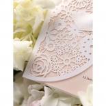 Blush Blooms engagement invite card
