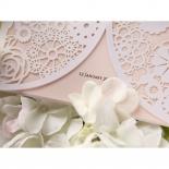 Blush Blooms engagement invite design