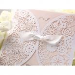 Blush Blooms engagement invitation card design