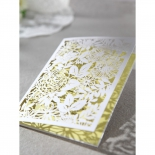 Charming Laser cut Garden engagement party invite card design