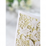 Charming Laser cut Garden engagement party invite