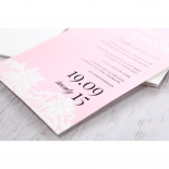 Classic White Laser Cut Floral Pocket engagement party invitation card