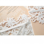 Classic White Laser Cut Sleeve engagement invite