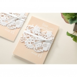Classic White Laser Cut Sleeve engagement card