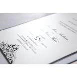 Elegance Encapsulated Laser cut Black engagement party invitation card