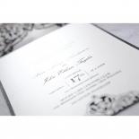 Elegance Encapsulated Laser cut Black engagement party invitation card design