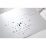Elegant Crystal Lasercut Pocket engagement invitation card