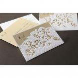 Embossed Floral Pocket engagement invite card design