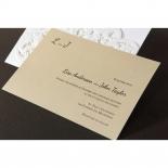 Embossed Floral Pocket engagement invite