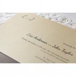 Embossed Floral Pocket engagement invitation card design