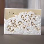 Embossed Floral Pocket engagement party invite card design