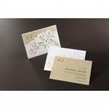 Embossed Floral Pocket engagement card