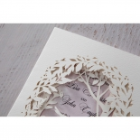 Enchanting Forest 3D Pocket engagement party invite card design