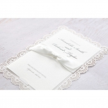 Intricate Vintage Lace engagement party card