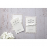 Intricate Vintage Lace engagement invitation design