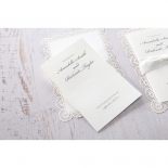 Intricate Vintage Lace engagement invitation card