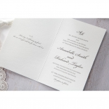 Intricate Vintage Lace engagement invite