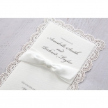 Intricate Vintage Lace engagement party invite card