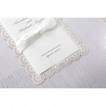 Intricate Vintage Lace engagement party invite card design