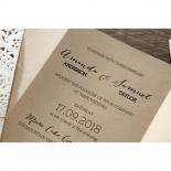 Laser Cut Doily Delight engagement invitation design