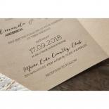 Laser Cut Doily Delight engagement invitation card