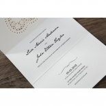Letters of love engagement invitation design