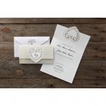 Letters of love engagement party card design
