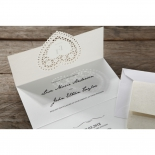 Letters of love engagement invitation card