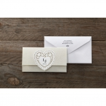 Letters of love engagement party invite card