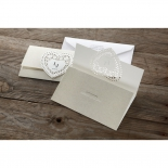Letters of love engagement party invite card design
