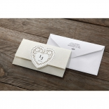 Letters of love engagement party invite design