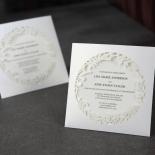 Luscious Forest Laser Cut engagement invitation