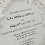 Luscious Forest Laser Cut engagement party card design
