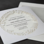 Luscious Forest Laser Cut engagement invitation card