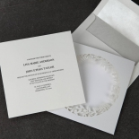 Luscious Forest Laser Cut engagement invitation card design