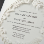 Luscious Forest Laser Cut engagement party invite card