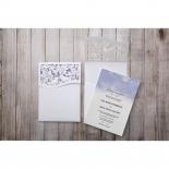 Mythical Garden Laser Cut Pocket engagement invitation card