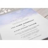 Mythical Garden Laser Cut Pocket engagement invite design