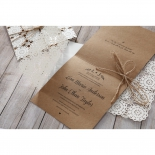Rustic engagement party card