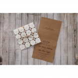 Rustic engagement party invite card