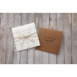 Rustic engagement party invitation card