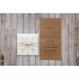 Rustic engagement party invite