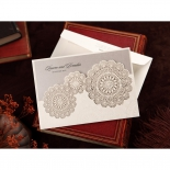 Rustic Lace Pocket engagement invite card design