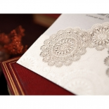 Rustic Lace Pocket engagement party card