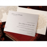 Rustic Lace Pocket engagement invitation