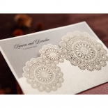 Rustic Lace Pocket engagement party card design